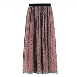 ZARA POLKA DOTS DOUBLE-LAYERED MESH TULLE SKIRT
